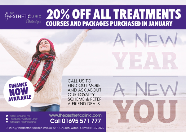 Make 2018 your year with our amazing offer!! The Aesthetic Clinic